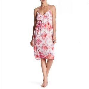 NWT CAD Halter Babydoll Print Dress, Tie Dye, S
